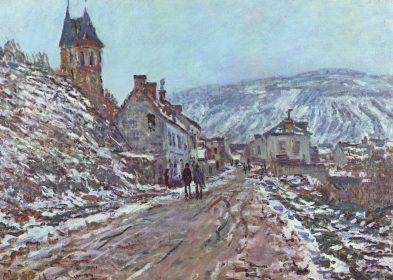 Claude_Monet_La route à Vétheuil