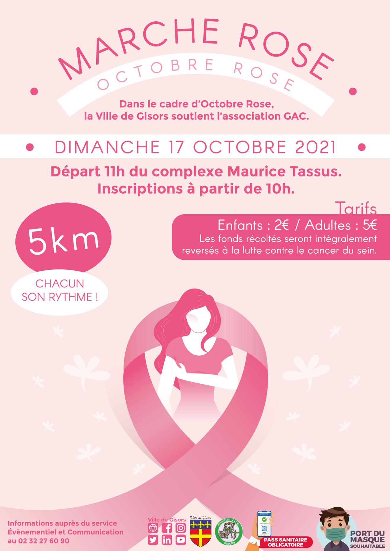 Marche octobre rose Gisors 17 octobre 2021