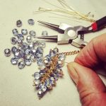 Perles bleues © Bijoux du manoir