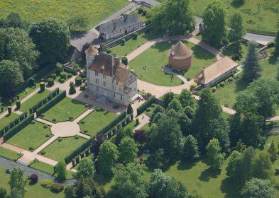 Vascoeuil vue du ciel © Château de Vascœuil, A.C.V.M