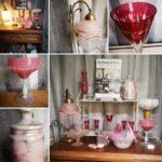 Vue boutique objets roses (c) Au charme du verre