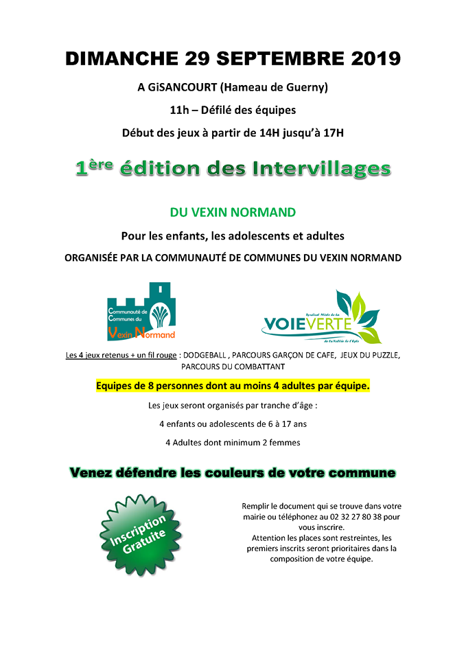 intervillages fete voie verte