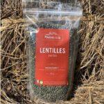 paquet de lentilles vertes
