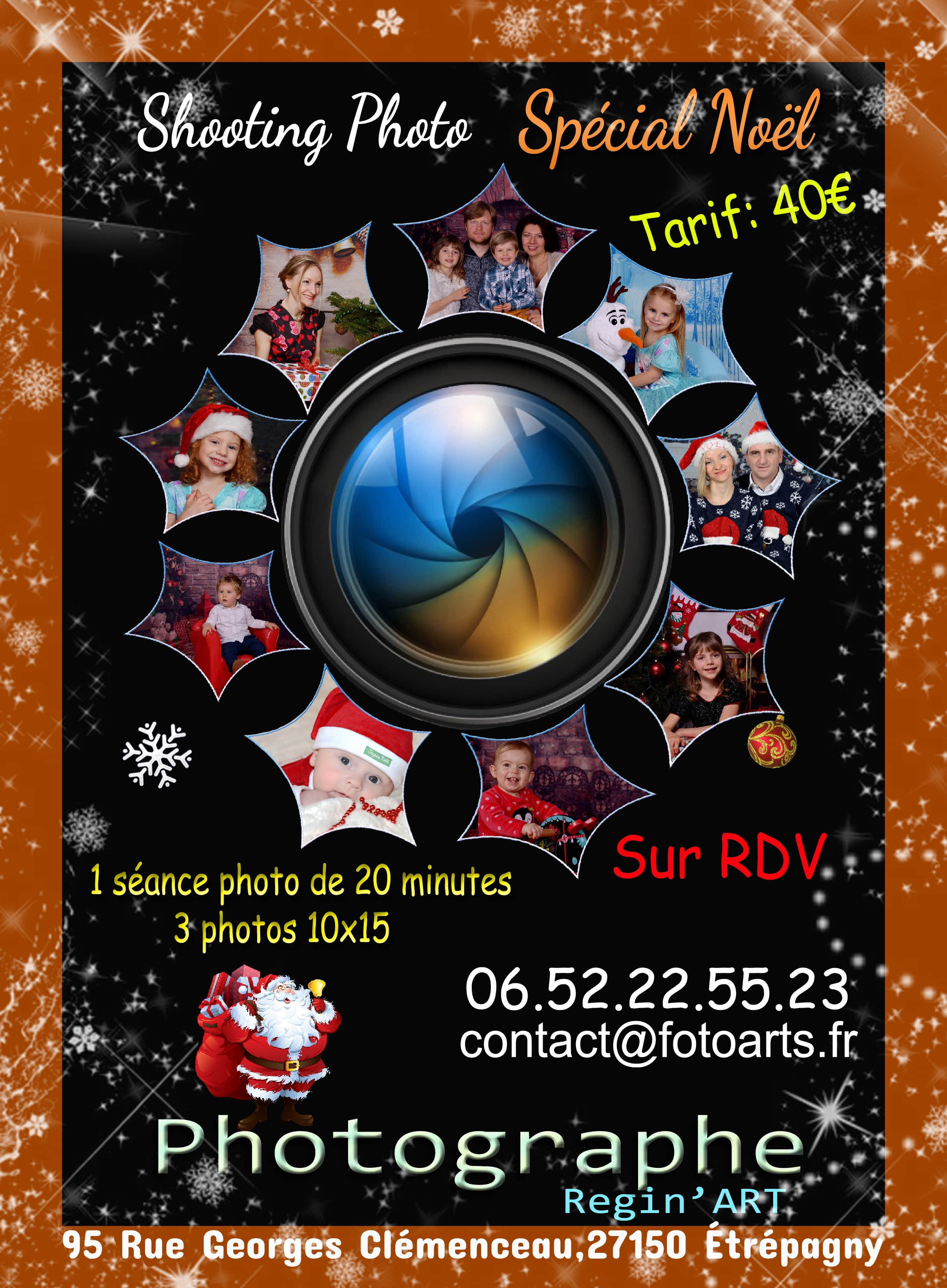 shooting photo spécial noel