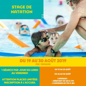 stage de natation