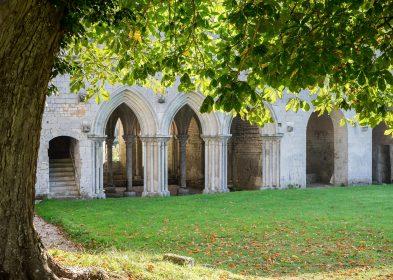 Cloître © Olivier Monpoint, Abbaye de Fontaine-Guérard